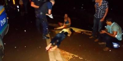 São Francisco do Guaporé - Acidente com motocicletas deixam cinco pessoas feridas