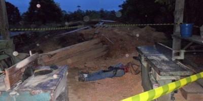 BRASIL-ACRE-Marceneiro tem corpo partido ao meio em acidente com lamina de serra madeira