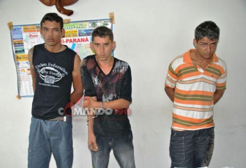 Ji-Paraná - PC age rápido e prende três assaltantes logo após roubo em residência