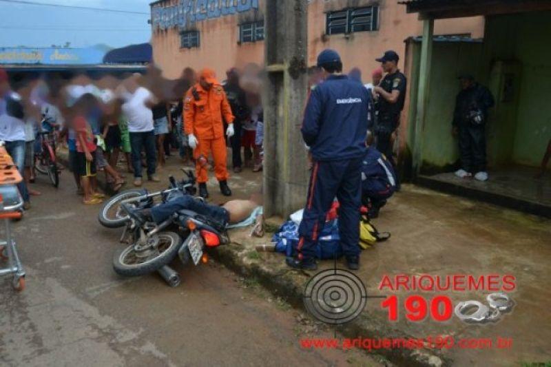 Ariquemes: Pedreiro é executado a tiros no setor 10 por dois elementos
