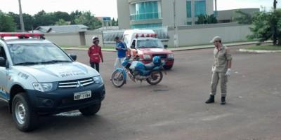 Rolim De Moura-  Taxista e Mototaxista se envolvem em acidente.