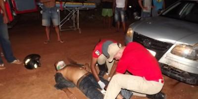 Rolim De Moura - Embriaguez na direção provoca acidente no bairro cidade alta.