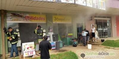 Ouro Preto - Loja de Utilidades têm princípio de incêndio nos três coqueiros