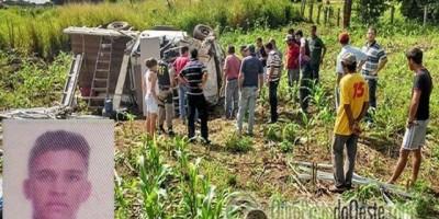 Ouro Preto - Capotamento na BR 364, próximo a Ouro Preto, deixa um morto e dois feridos; Todos residem em Ji-Paraná