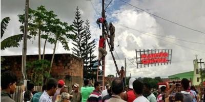 Ouro Preto: homem morre eletrocutado em poste - IMAGENS FORTES