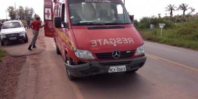 Rolim De Moura – Viatura do Corpo De Bombeiros se envolve em acidente de trânsito.