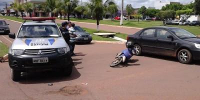 Rolim De Moura – Acidente de trânsito na av. 25 de Agosto.