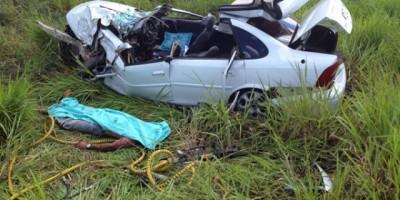 BR 364 - Acidente envolvendo Vectra e Carreta na BR-364 deixa uma vítima fatal - Fotos
