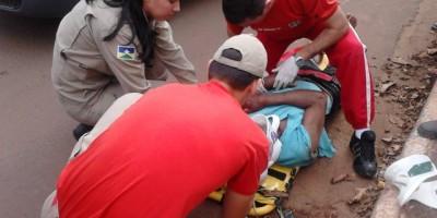 Rolim de Moura –  Acidente de trânsito próximo a pista de kart.
