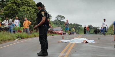 Migrantinópolis. –  Acidente de trânsito com vítima fatal na RO 010.