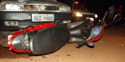 Rolim de Moura –  Acidente de trânsito na Avenida São Paulo no bairro Boa Esperança