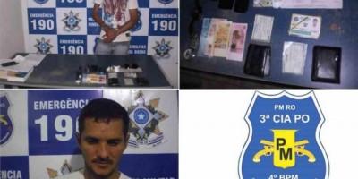 Pimenta Bueno :Traficante vindo de Cacoal é preso com drogas em Pimenta Bueno