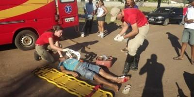Rolim de Moura –  Motociclista invade preferencial e provoca acidente