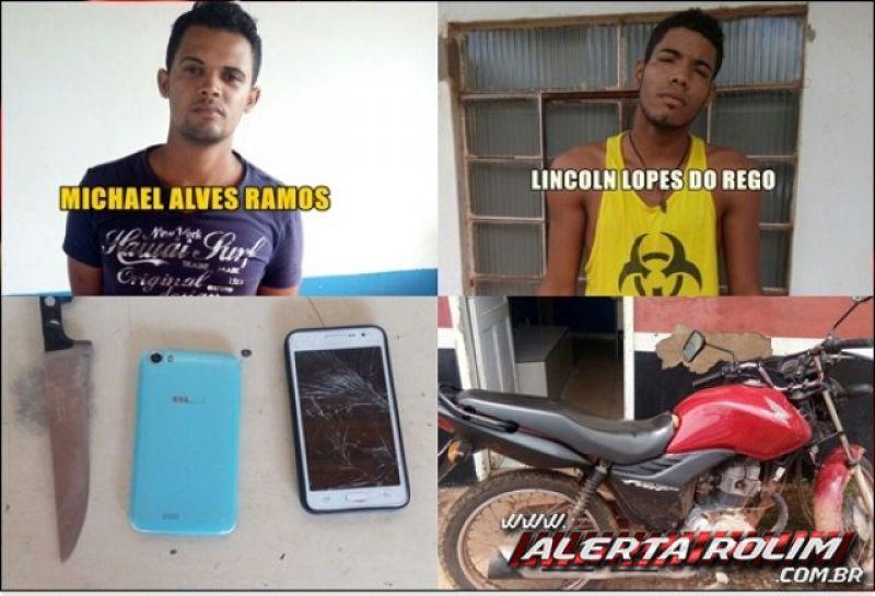 Rolim de Moura –Dois suspeitos de estarem envolvidos com onda de roubos e furtos de aparelhos celulares, são detidos pela PM