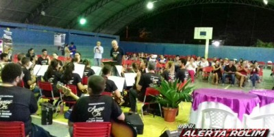 Apresentação da Orquestra Sinfônica da Polícia Mirim de Rolim de Moura na Escola Machado de Assis em Nova Brasilândia - Fotos