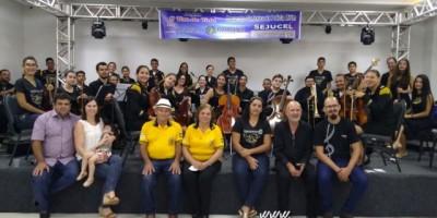 Orquestra sinfônica da Polícia Mirim se apresenta em Vilhena/RO