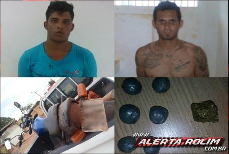 Rolim de Moura - Apenados são presos pela PM transportando drogas