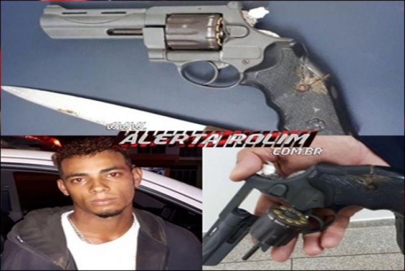 Rolim de Moura – Suspeitos de roubo são presos pela PM com arma de fogo e faca