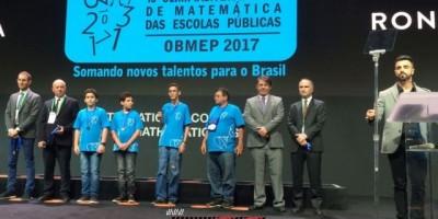 Aluno de Rolim de Moura recebe Medalha de Ouro da Olimpíada Brasileira de Matemática das Escolas Públicas e Privadas
