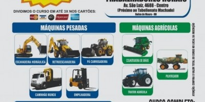 Promoção imperdível em cursos de máquinas pesadas e máquinas agrícolas em Rolim de Moura