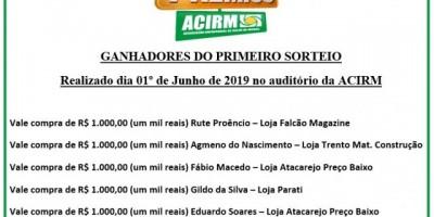 Confira ganhares do 1º sorteio da Promoção Show de Prêmios da Acirm