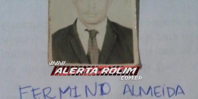 Familiares de Curitiba/PR estão à procura de FERMINO ALMEIDA DA SILVA, que veio para Rondônia na década de 80 e não tiveram mais notícias
