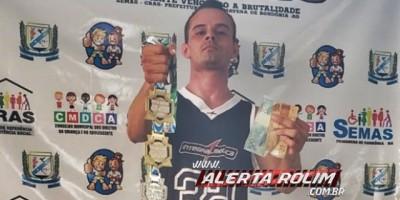 Cabo da PM é campeão em duas modalidades, durante disputa do campeonato Open Godoi de Jiu-jitsu em Primavera de Rondônia