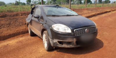 Mulher morre após carro capotar na zona rural de Alvorada do Oeste