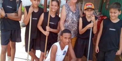 Cadetes da Polícia Mirim em Rolim de Moura realizam Um Dia de Boas Ações