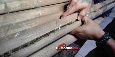 Em Ji-Paraná, PRF apreende drogas escondida dentro de cabo de machado