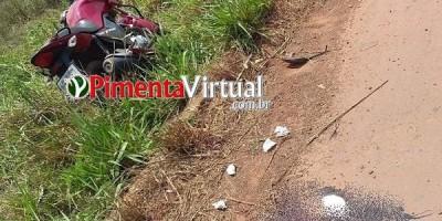 Homem perde a vida após grave acidente entre carro e moto na RO-010, em Pimenta Bueno