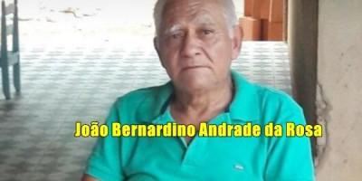 Nota de pesar pelo falecimento de João Bernadino Andrade da Rosa