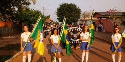 Nova Estrela - Polícia Militar e alunos das Escolas da Rede Estadual e Municipal realizaram desfile no feriado da Independência Nacional
