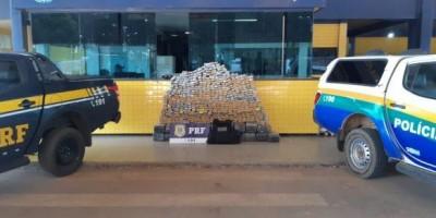 PRF apreende mais de 600 quilos de maconha em Vilhena