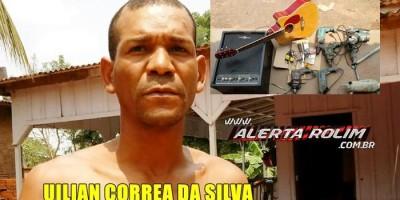 Rolim de Moura – Suspeito é preso pela Polícia Militar com vários produtos furtados