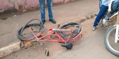 Vídeo: Idoso em bicicleta é atropelado e morre um dia após o aniversário, em Porto Velho