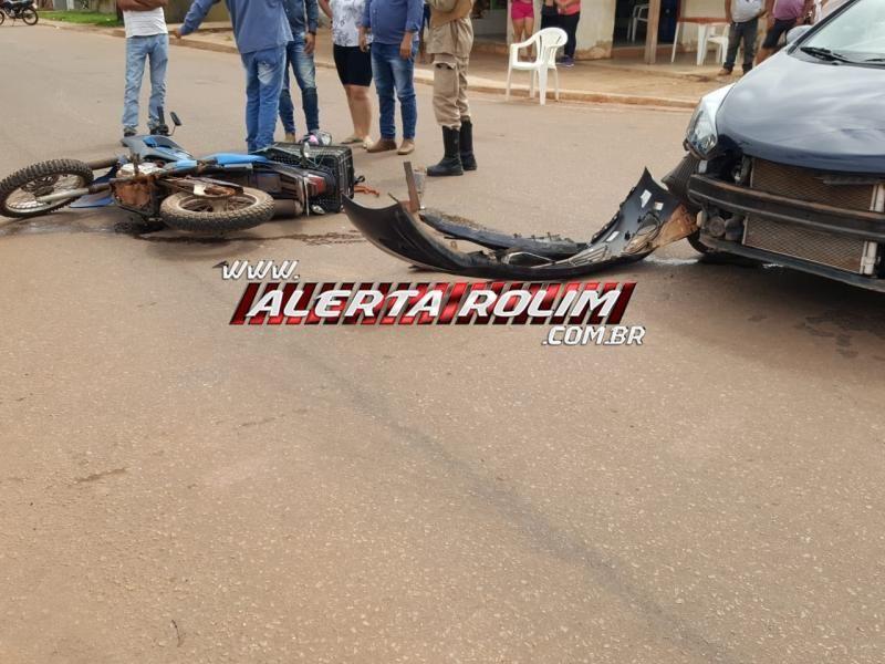Rolim de Moura – Três acidentes de trânsito foram registrados na cidade durante esta manhã de segunda-feira