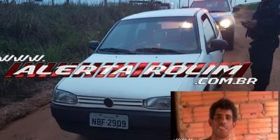 URGENTE - Carro de vítima, encontrada carbonizada em Nova Estrela, é localizado pela PM no Bairro Greevile, em Cacoal