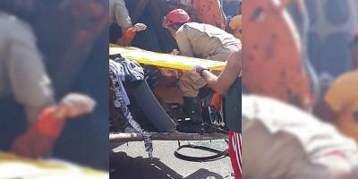 Vídeo - Gari perde as pernas em acidente com caminhão do lixo, no Pará