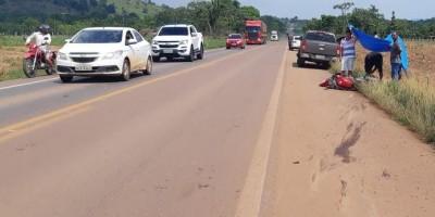 Jaru -  Motociclista morre em colisão frontal com caminhonete na BR-364