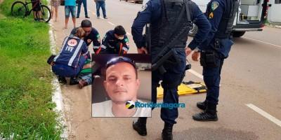Morre motociclista que invadiu preferencial e foi atingido por viatura, em Porto Velho