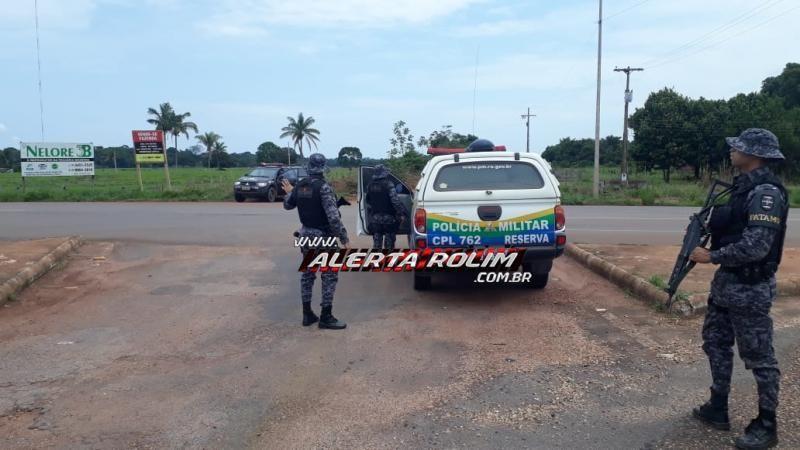 Patamo da PM de Cacoal apreende arma de fogo e munições na RO-010, durante Missão Paz no Campo