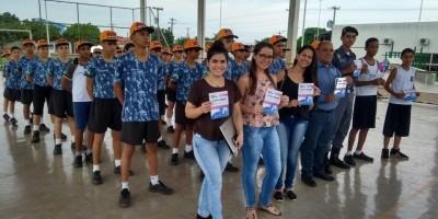 Polícia Mirim de Rolim de Moura recebe equipe de acadêmicos do Curso de Farmácia da Faculdade São Paulo - FSP