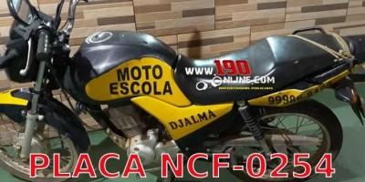 Procura-se por moto de Auto Escola que foi furtada em Alta Floresta