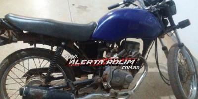 Rolim de Moura – Após praticar roubo, moto utilizada por bandidos apresenta pane e acaba apreendida pela PM