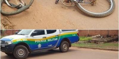 Rolim de Moura – Ciclista é socorrido em estado grave após ser atingido por moto no Bairro Boa Esperança