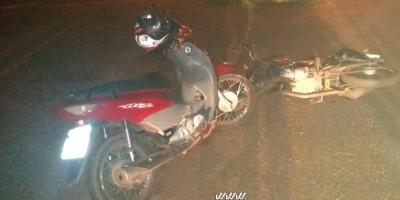 Rolim de Moura – Duas motos colidem e uma pessoa é encaminhada ao pronto-socorro