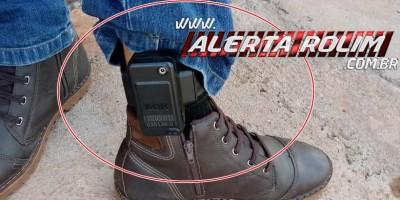 Rolim de Moura - Indivíduo, monitorado com tornozeleira eletrônica é conduzido à UNISP por alterar documento e aplicar golpe com cheque furtado em comércio da cidade