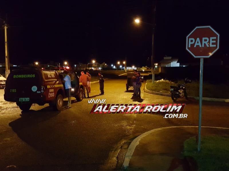 Rolim de Moura – Motociclista avança preferencial e atinge moto ocupada por 04 pessoas no Jequitibá