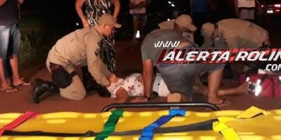 Rolim de Moura – Mulher sofre fratura exposta em sua perna durante grave acidente de trânsito no Bairro Olímpico